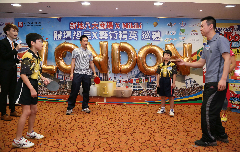 奧運男子雙打亞運-李靜先生與本會球員-莊棨甯同學一同表演