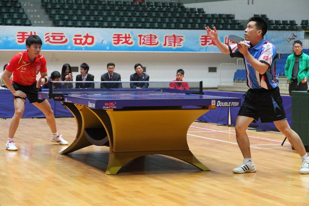 中國國家隊成員-陳玘與香港隊成員-高禮澤表演賽